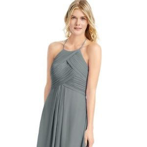 Azazie Ginger Bridsemaid Dress in Steel Gray